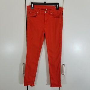 Rag & Bone size 30 zipper capri skinny jeans